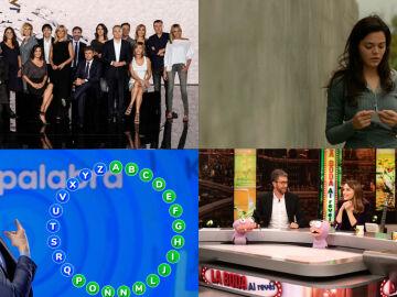 Antena 3, líder del martes, imbatible en el Prime Time con lo más visto de la televisión y laSexta, la 3ª cadena más vista del día