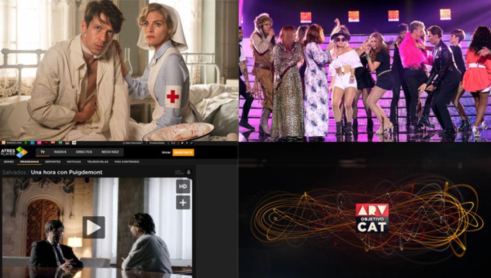 Récord histórico semanal de consumo de vídeo online con 'Tiempos de guerra', 'Salvados', 'TCMS' y la cobertura del 1-O