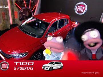 Paquete TP de Fiat en El Hormiguero