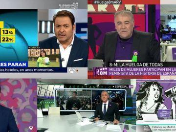 Cobertura de Atresmedia TV sobre el 8M