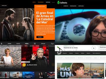 Portales digitales de Atresmedia