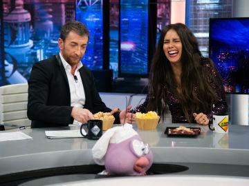 """Cristina Pedroche confiesa su 'obsesión' por las castañas en 'El Hormiguero 3.0': """"Si haces ejercicio luego puedes comer lo que quieras"""""""
