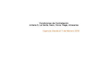 Condiciones contratación febrero 2019