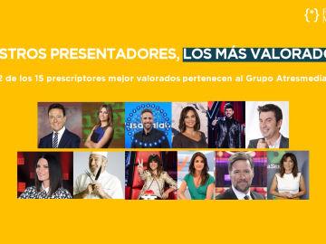 Los presentadores de Atresmedia, los más valorados según el último Personality Media