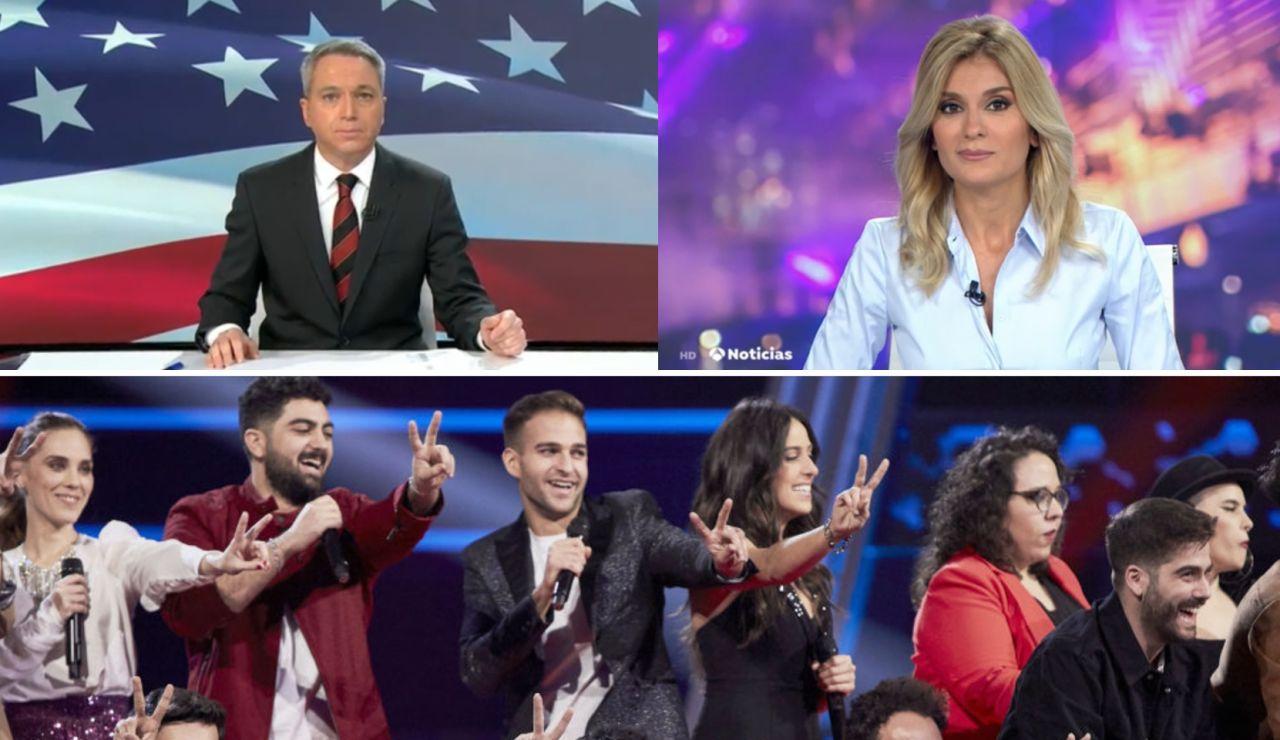 Audiencias informativos y 'La Voz'