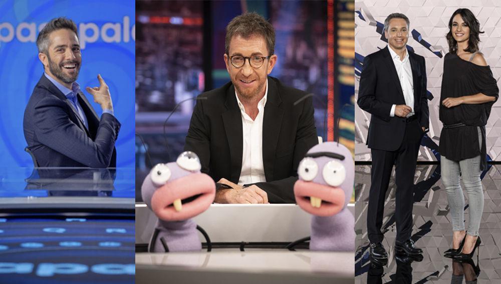 Pasapalabra', Antena 3 Noticias 2 y 'El hormiguero'