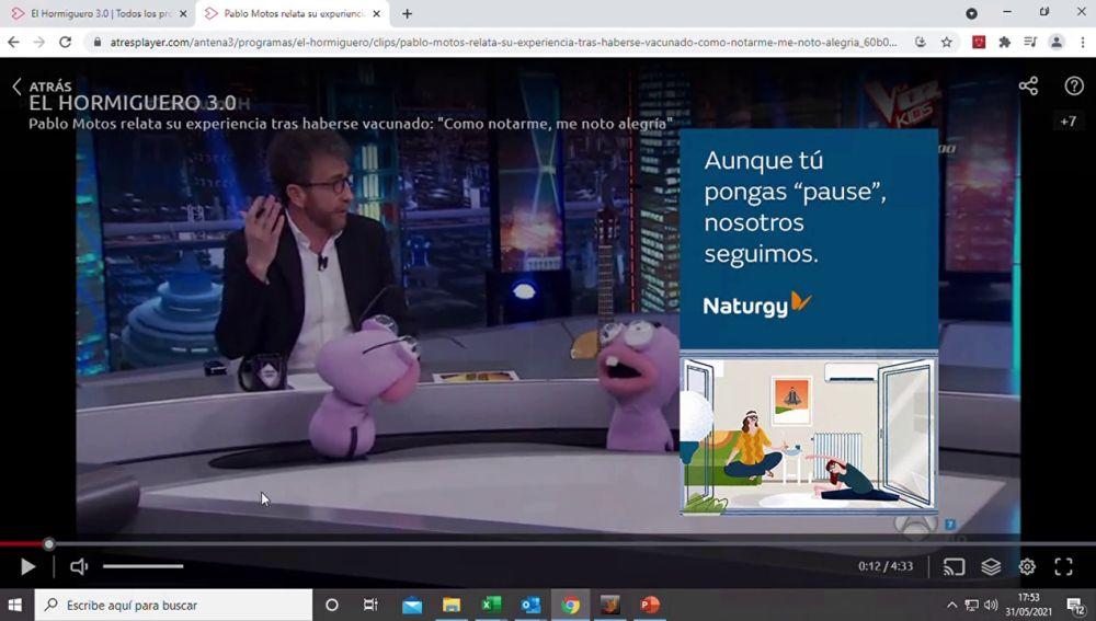 NATURGY, ejemplo real de marca que ha apostado por el formato Ad pause, el nuevo formato digital más integrado y exclusivo