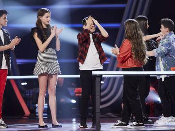 Manuel, Rocío, Carmen y Lukas son los cuatro semifinalistas del equipo de David Bisbal en 'La Voz Kids'