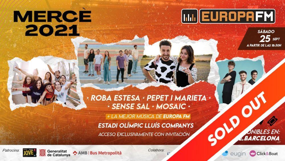 Agotadas en 24 horas las invitaciones para disfrutar de las fiestas de La Mercè 2021 en el escenario Europa FM